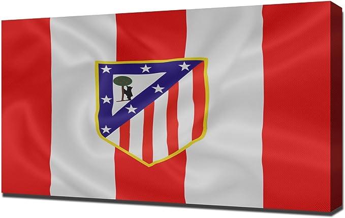 Atletico Madrid 2 Futbol - Pintura en lienzo: Amazon.es: Hogar