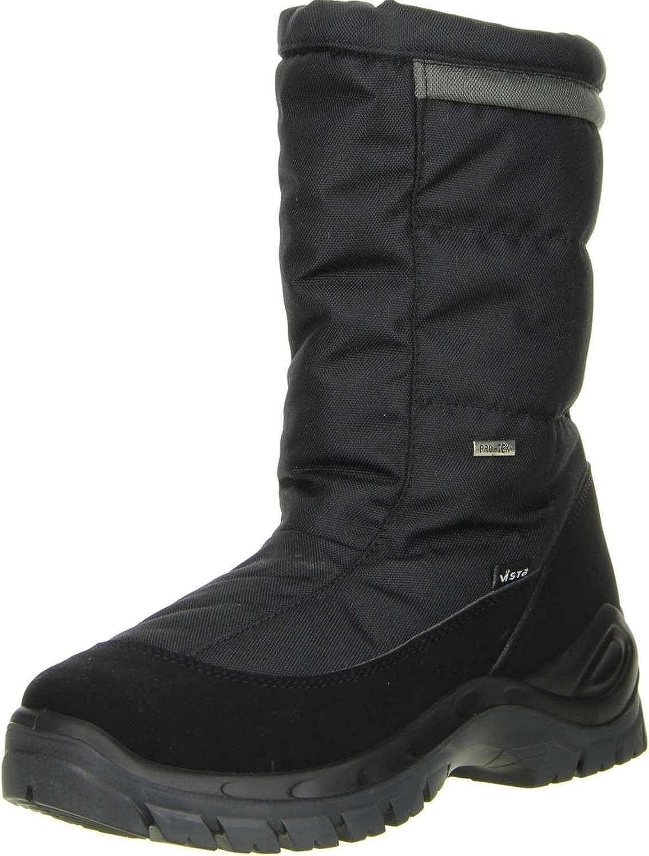 Vista11-09709 Tuono Schwarz - Botas de Nieve Hombre, Color Negro, Talla 44