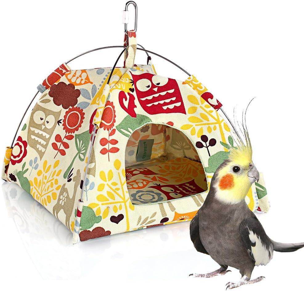 Parrot Habitat Cave Hanging Tent KINTOR Bird Nest House Bed Vibrant Parakeet Snuggle Hut Hammock Intelligence /& Physique Improvement Cage Decor for Small Animals