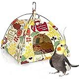 KINTOR Bird Nest House Bed, Parrot Habitat Cave Hanging Tent, Vibrant Parakeet Snuggle Hut Hammock, Intelligence & Physique Improvement Cage Decor for Small Animals