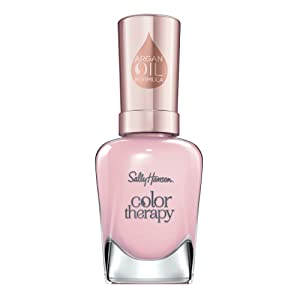 Sally Hansen Color Therapy Nail Polish, Rosy Quartz Long-Lasting Nail Polish with Gel Shine and Nourishing Care, Pack of 1