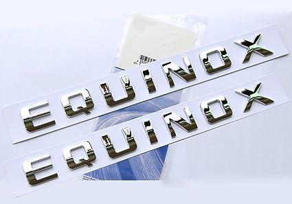 2x GENUINE Chrome TAHOE Nameplate EMBLEMS Letter for GM Chevrolet YU