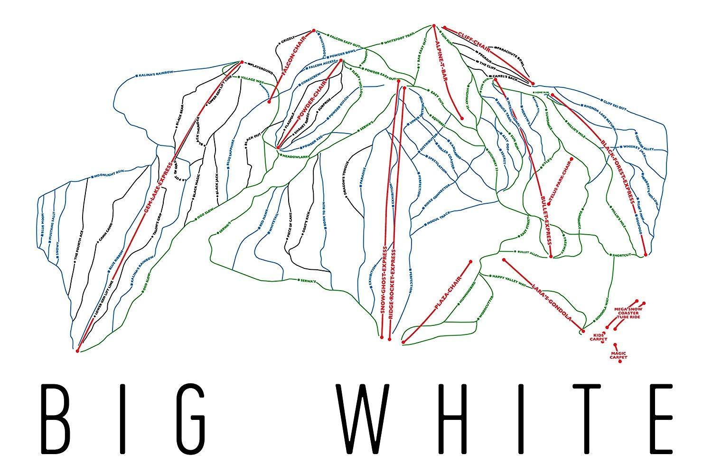 Amazon com: Big White Poster, Big White Ski Resort Poster