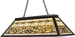 Elk 70023-4 Tiffany Game Room-Lighting 4-Light Billiard Light, 18-Inch, Tiffany Bronze Metal