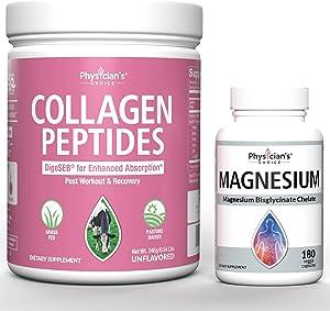 Collagen Peptides Powder - Enhanced Absorption + Magnesium Glycinate