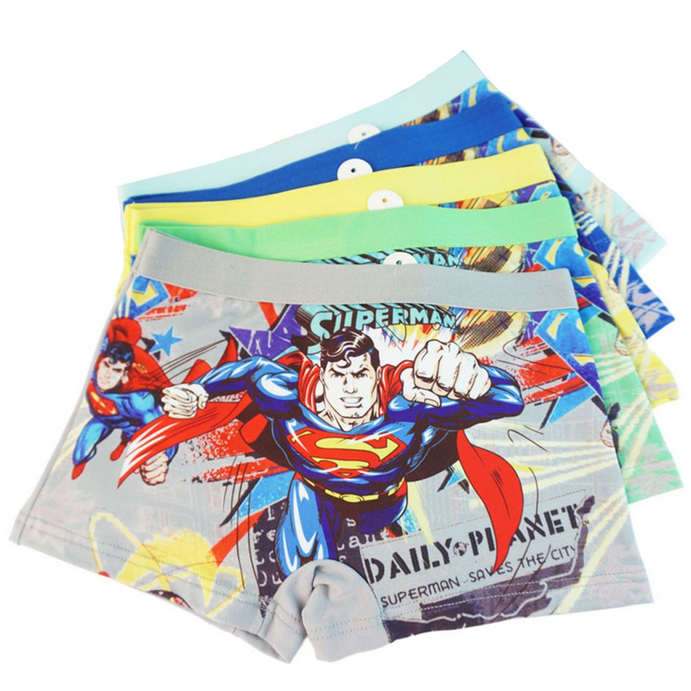 3-8 Years Old Boys Superman Boxer Briefs Hero-Themed Underwear 5 Multipack YUMILY ETNK1706254-1