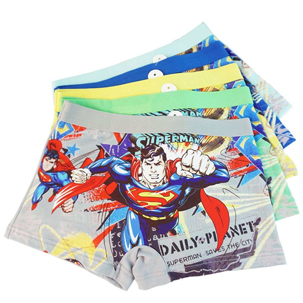 3-8 Years Old Boys Superman Boxer Briefs Hero-Themed Underwear 5 Multipack YUMILY CAETNK1706249