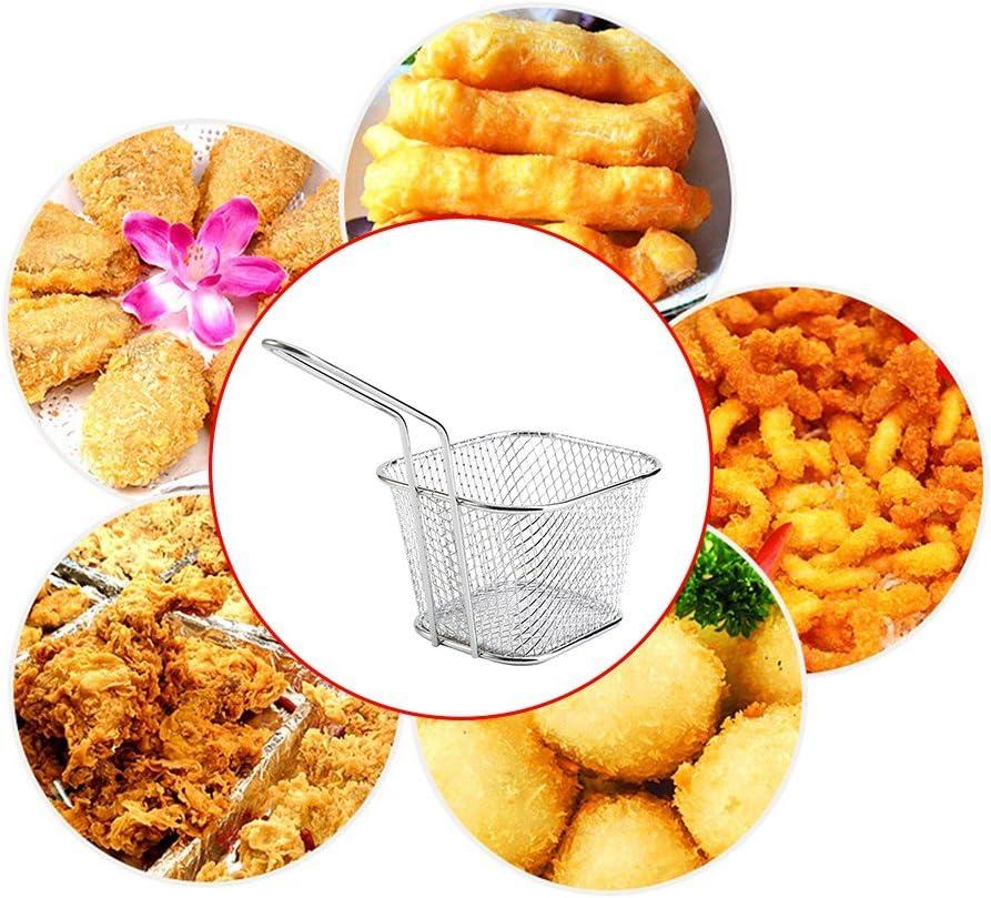 Poulet passoire Riuty Panier de croustilles Outil de Cuisson des croustilles rondelles doignon pr/ésentation des Aliments 8 pi/èces en Acier Inoxydable Doigts