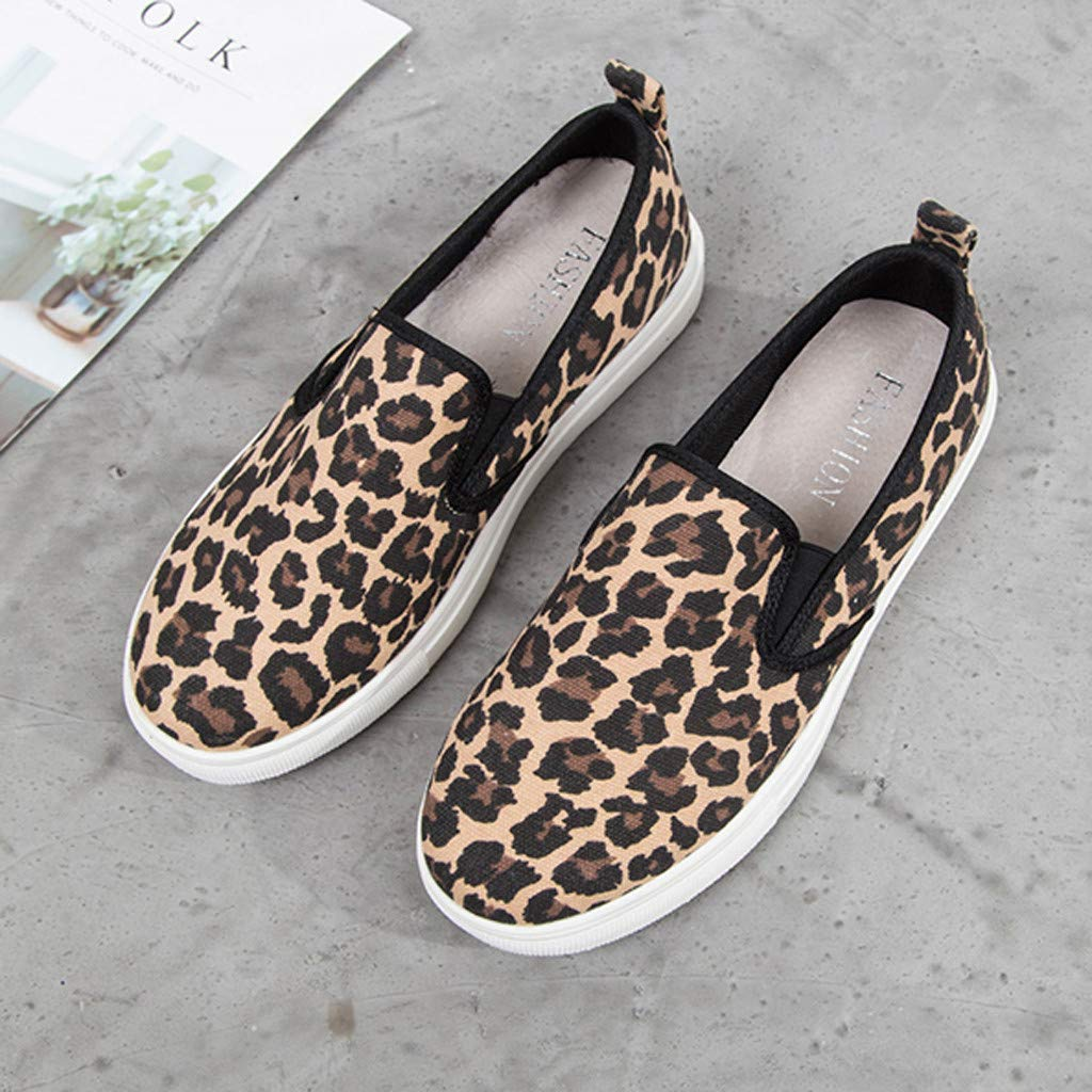 ✔ Hypothesis_X ☎ Women's Preforated Slip On Sneakers Roman Plus-Size Flat Casual Pumps Shoes Brown by ✔ Hypothesis_X ☎ Shoes (Image #5)