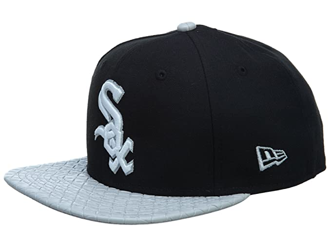 1fba851801b Image Unavailable. Image not available for. Color  New Era Visor Link Chicago  White Sox Black Gray Snapback