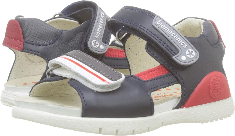 Biomecanics Boys Peep Open Toe Sandals 10 us Little Kid Navy