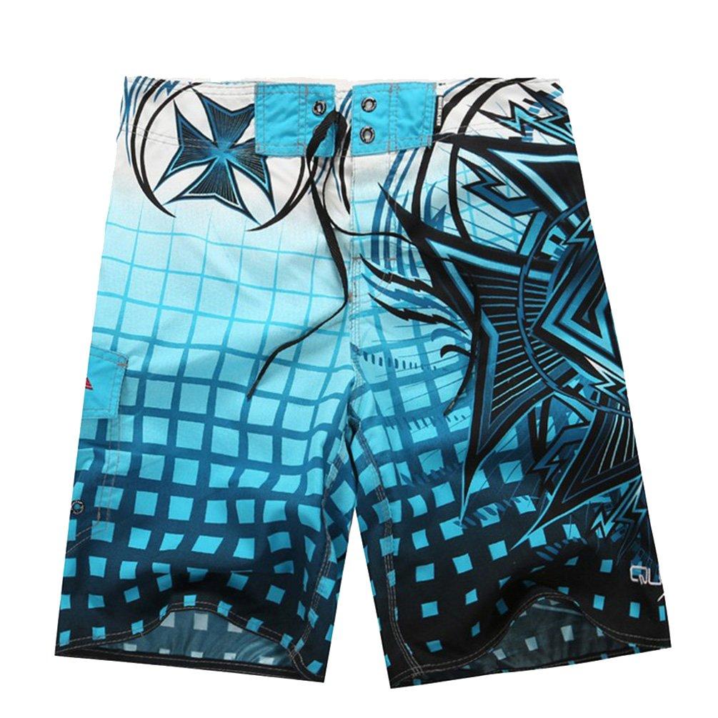 Baymate Men's Swimming Trunks Print Beach Pants Board Swim Shorts