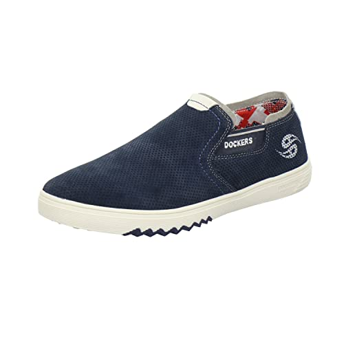 Dockers by Gerli 40iz003 - Mocasines de Piel para hombre, color azul, talla 43: Amazon.es: Zapatos y complementos