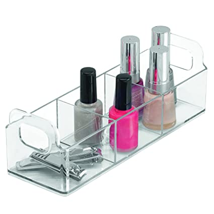 InterDesign Clarity Cosmetic Organizer Tote For Vanity Or Medicine Cabinet  U2013 Perfect Storage For Makeup Or
