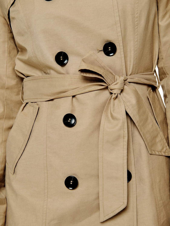 ONLY Damen Mantel Jacke Long Trenchcoat