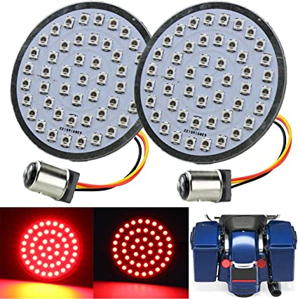 ZYTC 2 LED Turn Signals w//Brake Running Light Bullet Style Rear 1157 LED Turn Signal Kit for Harley Davidson