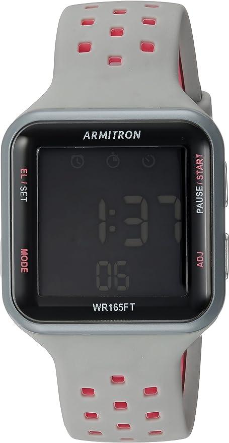 Armitron Sport Reloj Digital para Unisex Adulto de Cuarzo con Correa en Silicona 40/8417PGY: Amazon.es: Relojes