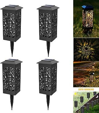 Lámpara solar para jardín, lámpara de jardín para exterior, resistente al agua IP44, lámpara solar decorativa para exterior, jardín, césped, patio: Amazon.es: Iluminación