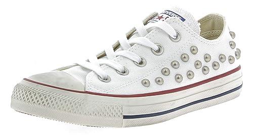 Distressed Mujer Ox Converse Ctas Eu Zapatos Blanco39 5 Para OZuwXPTki