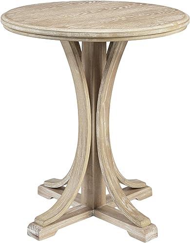MARTHA STEWART Fatima Accent Tables Modern Mid-Century Rustic Pedestal Design