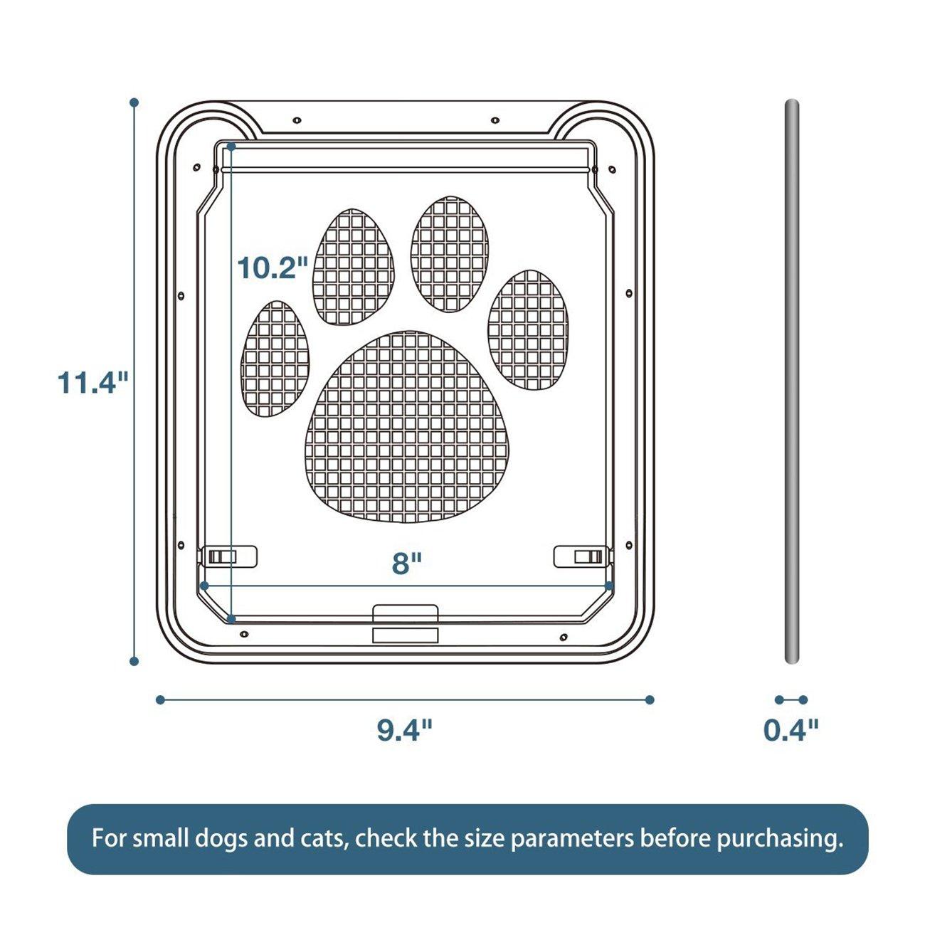 UHeng Magnetic Automatic Lock/Lockable Pet Screen Door cat Gate Way Pet Door for Screens by UHeng (Image #5)