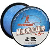 FISHINGSIR MonoPro Monofilament Fishing Lines Premium Mono Nylon Material, Superior Strong and Abrasion Resistant,4LB-80LB
