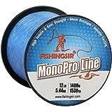 Monofilament Fishing Line Clear Super Smooth Nylon Fishing Line Saltwater Freshwater,4lb-80lb