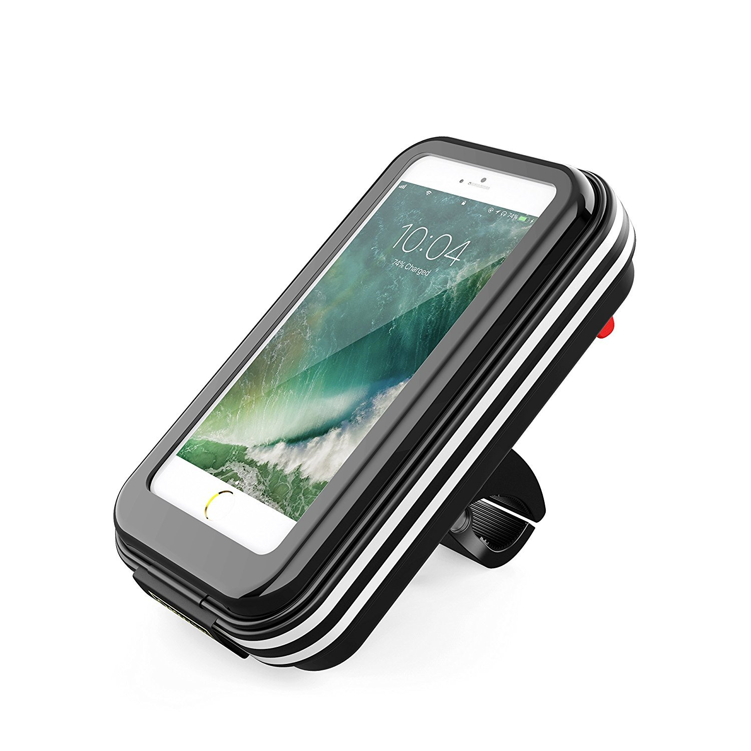 Wiki valley Bike Phone Mount Bag, 6.2inch 360 Rotatable Universal Waterproof Bicycle Phone Bags Holder Pouch Holster Case for iPhone 8 plus/8/7 plus/7/6plus/6s Plus, Support Touch ID