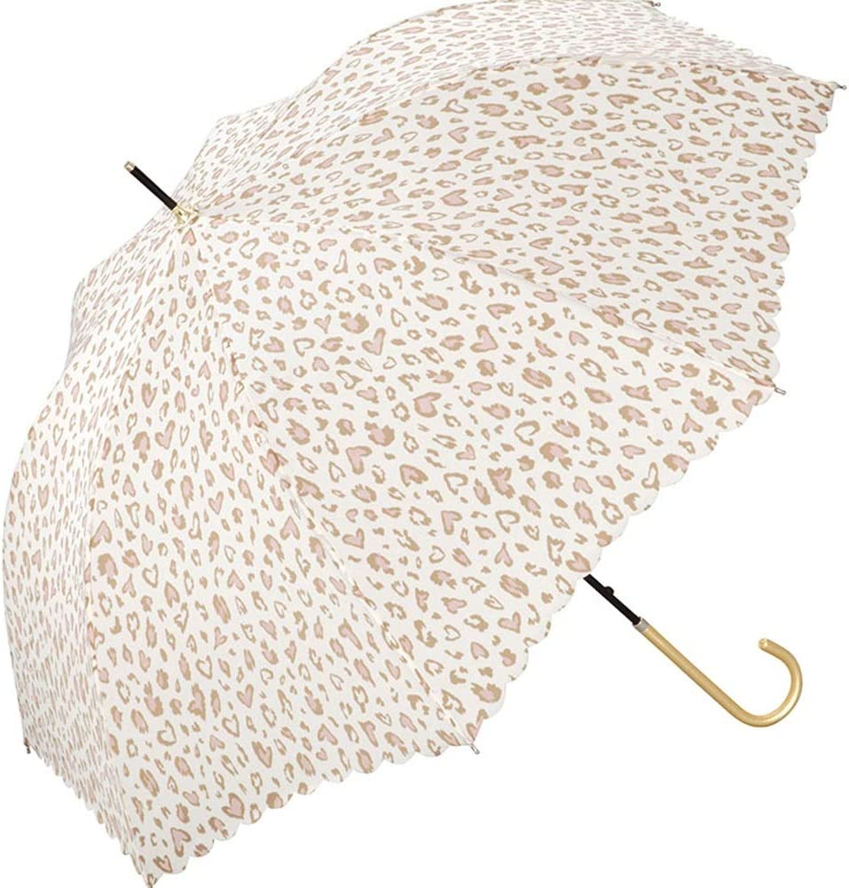ZHANGAIZHEN Lovely Small Fresh Semiautomatic Long Handle Shade Sunscreen Anti-UV Simple Color : Beige