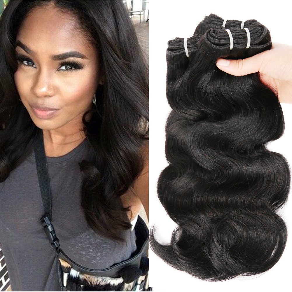 Amazon Com Hanne 6pcs Brazilian Virgin Hair Body Wave 8 Short