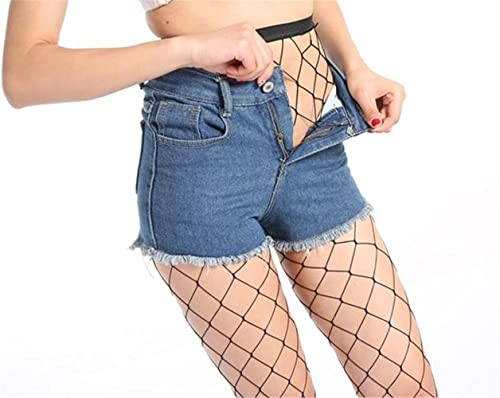 AKABELA Moda Mujer Negro Medias calcetínes de Rejilla de Red de Malla de Pesca Fishnet Tights Pantie...