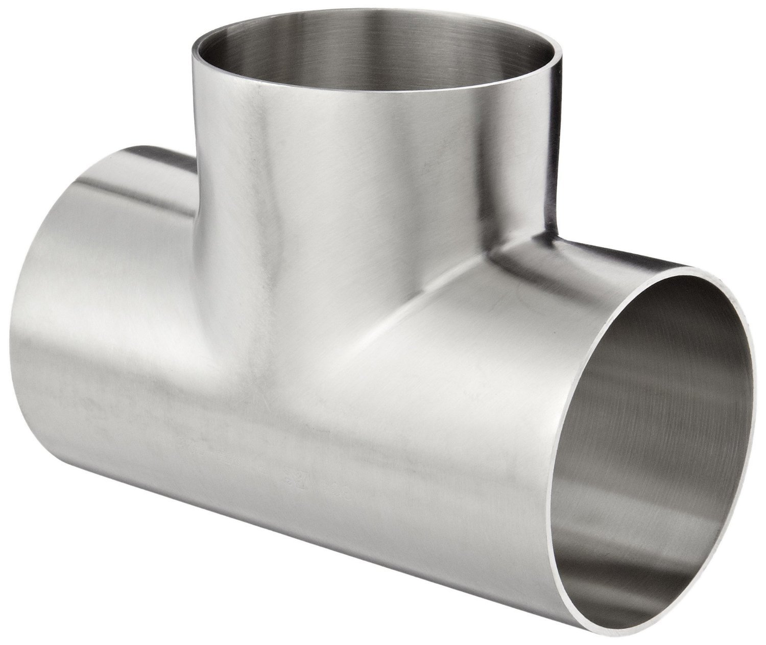 Dixon B7WWW-G250P Stainless Steel 304 Polished Fitting, Weld Short Tee, 2-1/2'' Tube OD