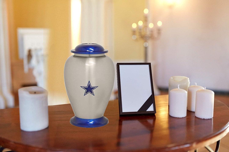 Solid Metal Urn for Ashes Cremation Urn with Free Velvet Bag Eternitymarts Cowboy Star Cremation Urn Exclusive Metal Urn