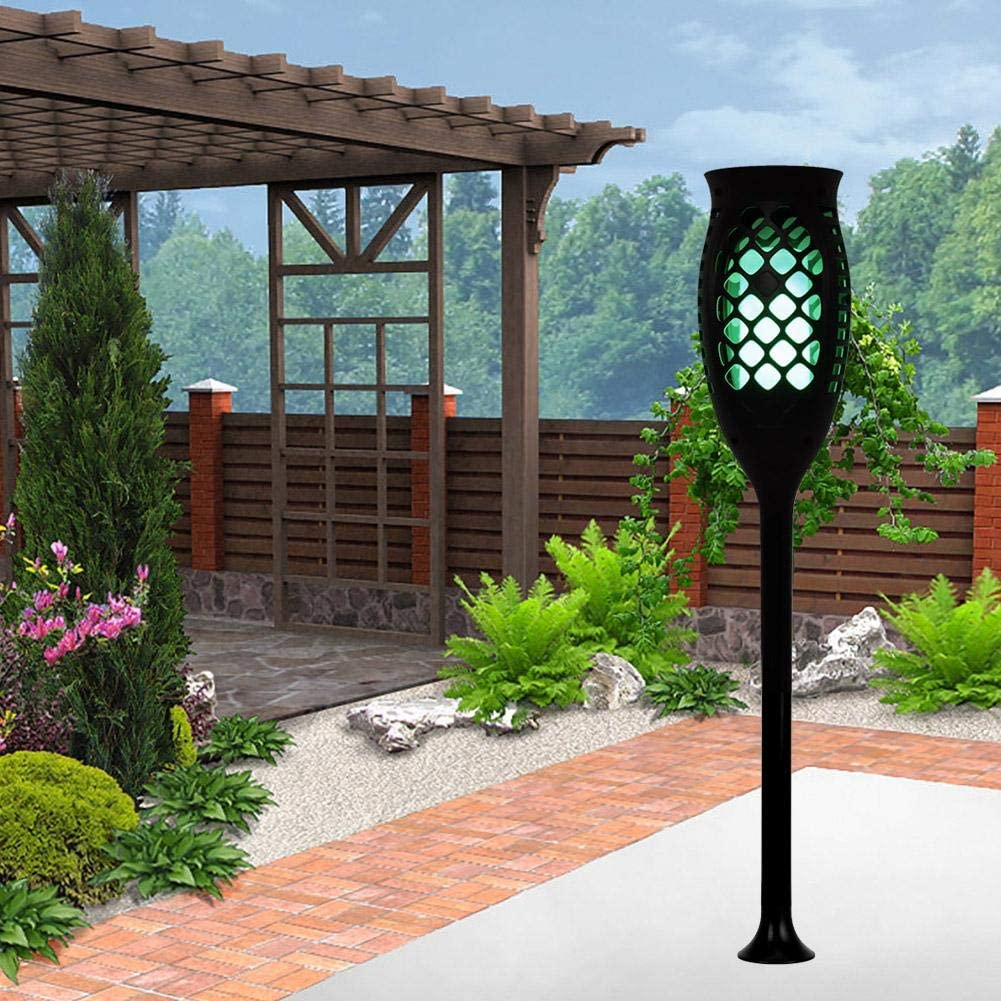eecoo Antorcha Parpadeante de Llama Solar, Llama de Baile a Prueba de Agua 99 luz Solar LED antorcha al Aire Libre luz de decoración de Paisaje iluminación para Patio jardín(Vistoso): Amazon.es: Jardín