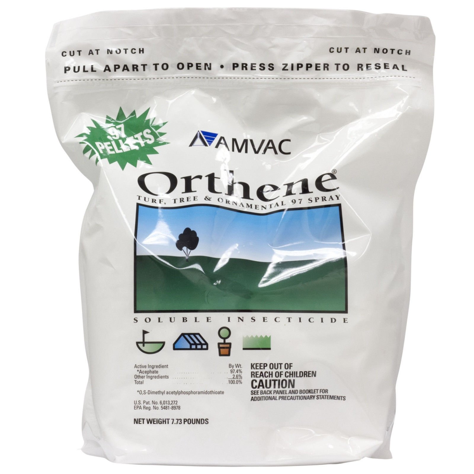 Orthene 97 Spray Insecticide 7.73 Lbs For Pests On Trees Ornamentals And Turf''