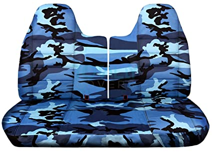 Pleasant 1992 1997 Ford F 150 F 250 F 350 Camo Truck Seat Covers Front 50 50 Split Bench W Wo Separate Headrest Covers Blue Camouflage 16 Prints 1993 1994 Machost Co Dining Chair Design Ideas Machostcouk