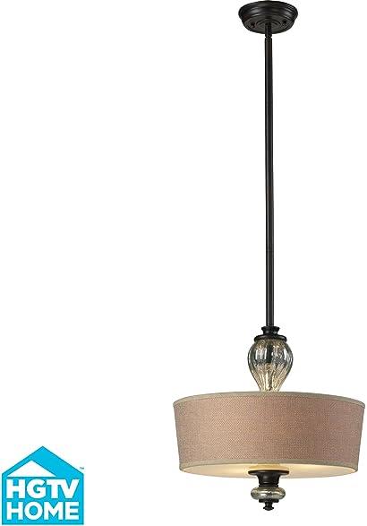 elk lighting veronica 3light pendant vintage rust