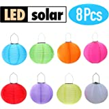 RioRand 8pcs Chinese Waterproof Outdoor Garden Solar Hanging LED Light Lanterns