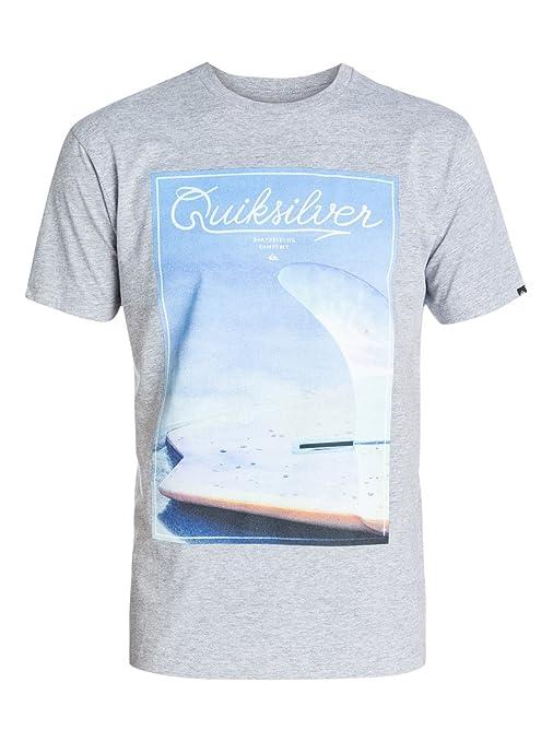 Quiksilver Classic Tee Finbox - Camiseta - Hombre - XL - Gris