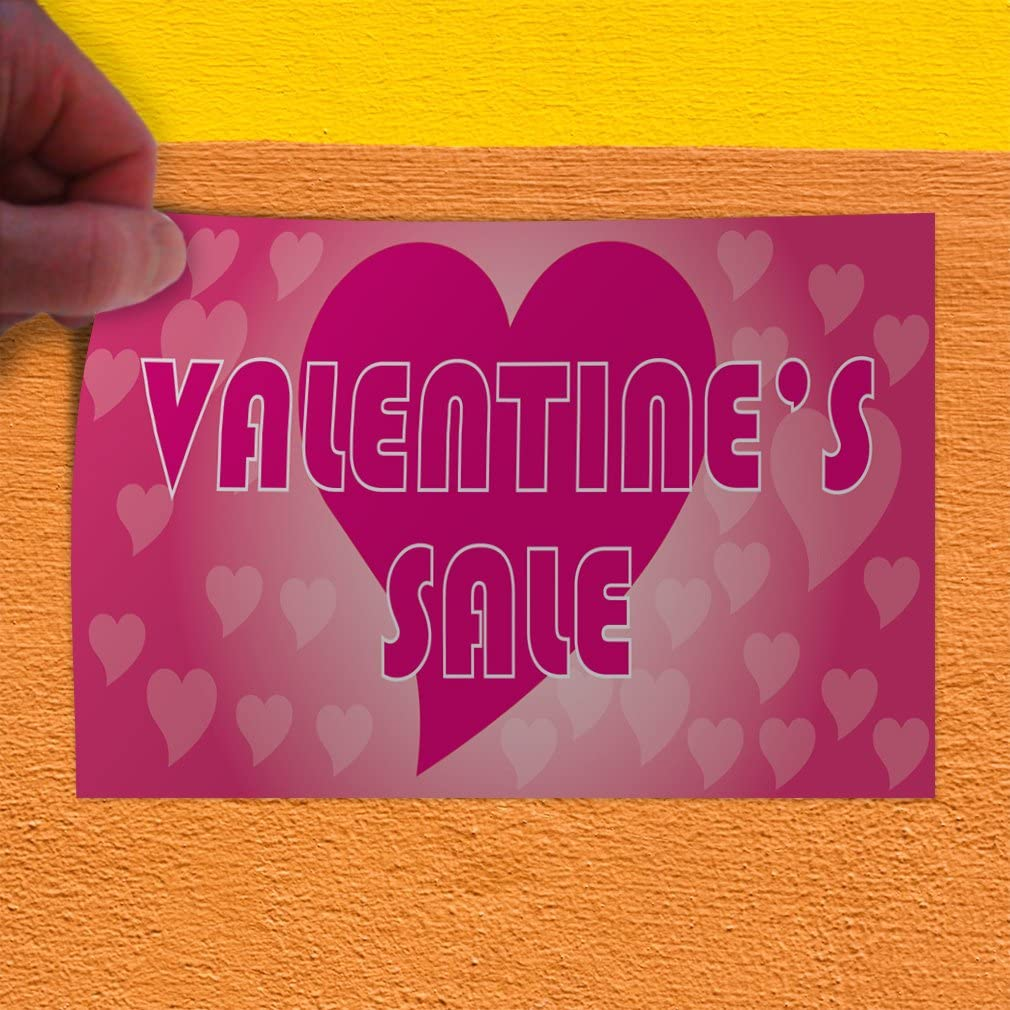 Set of 2 Decal Sticker Multiple Sizes Valentines Sale #1 Holidays and Occasions Valentine Outdoor Store Sign White 54inx36in