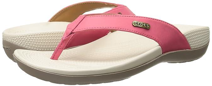 6f0ad6883328 CROCS - ELLA COMFORT PATH FLIP - poppy mushroom  Amazon.es  Zapatos y  complementos
