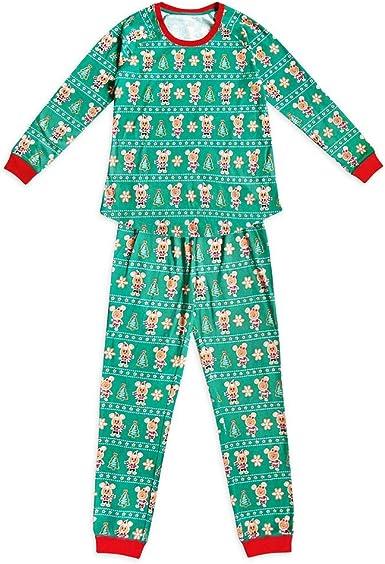 Disney Mickey y Minnie Mouse Conjunto de pijama de vacaciones para mujer