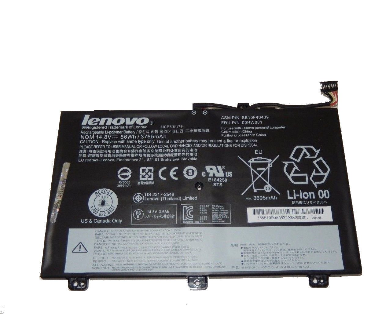 Amazon.com: New Genuine Battery For Lenovo ThinkPad Yoga 14 ...