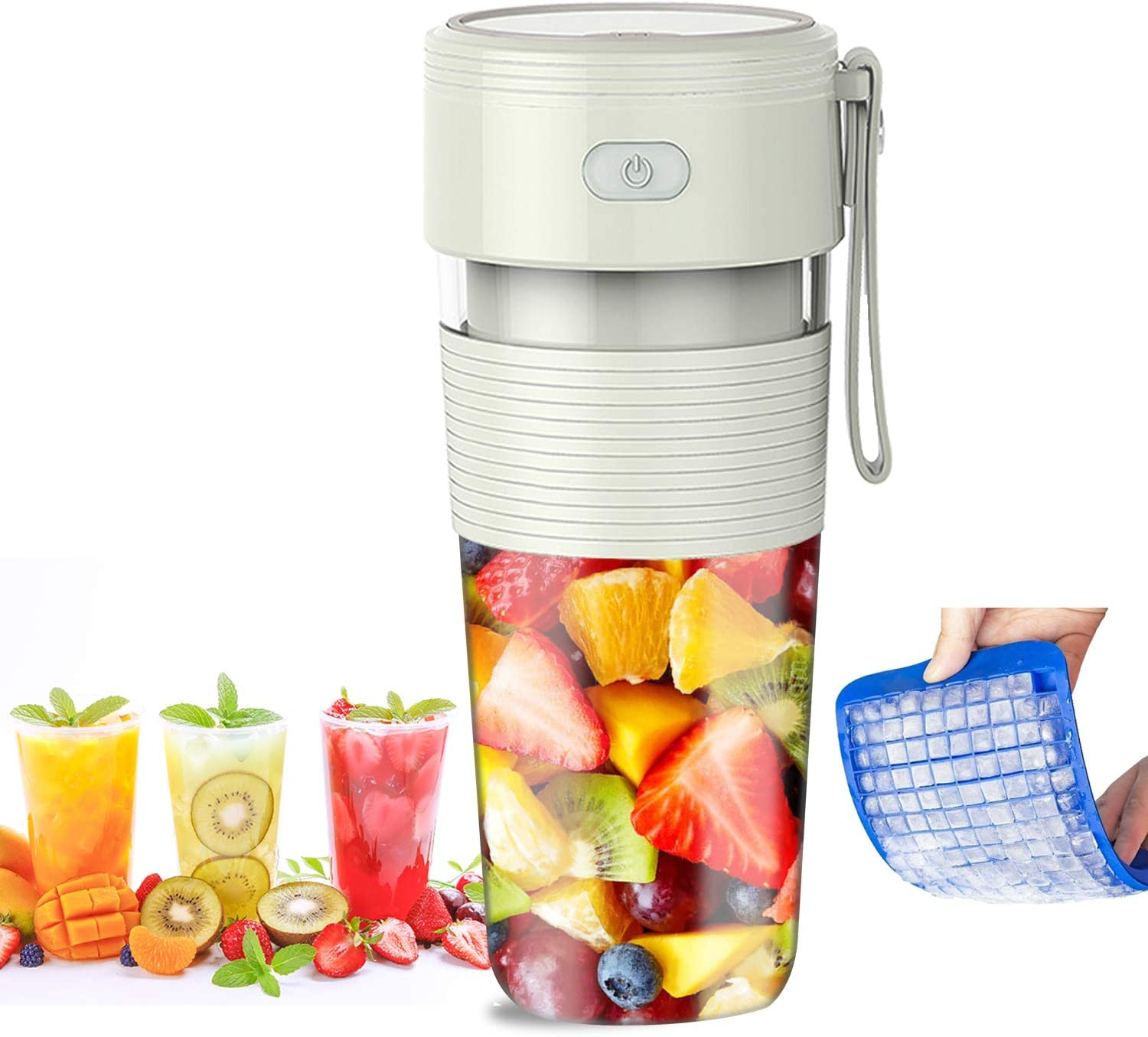 Portable Blender for Juice, Personal Size Blender Cup for Shakes and Smoothies Juicer Cup with USB Rechargeable Mini Blender 300ML 10oz Personal Blender for Home Travel Office Outdoor