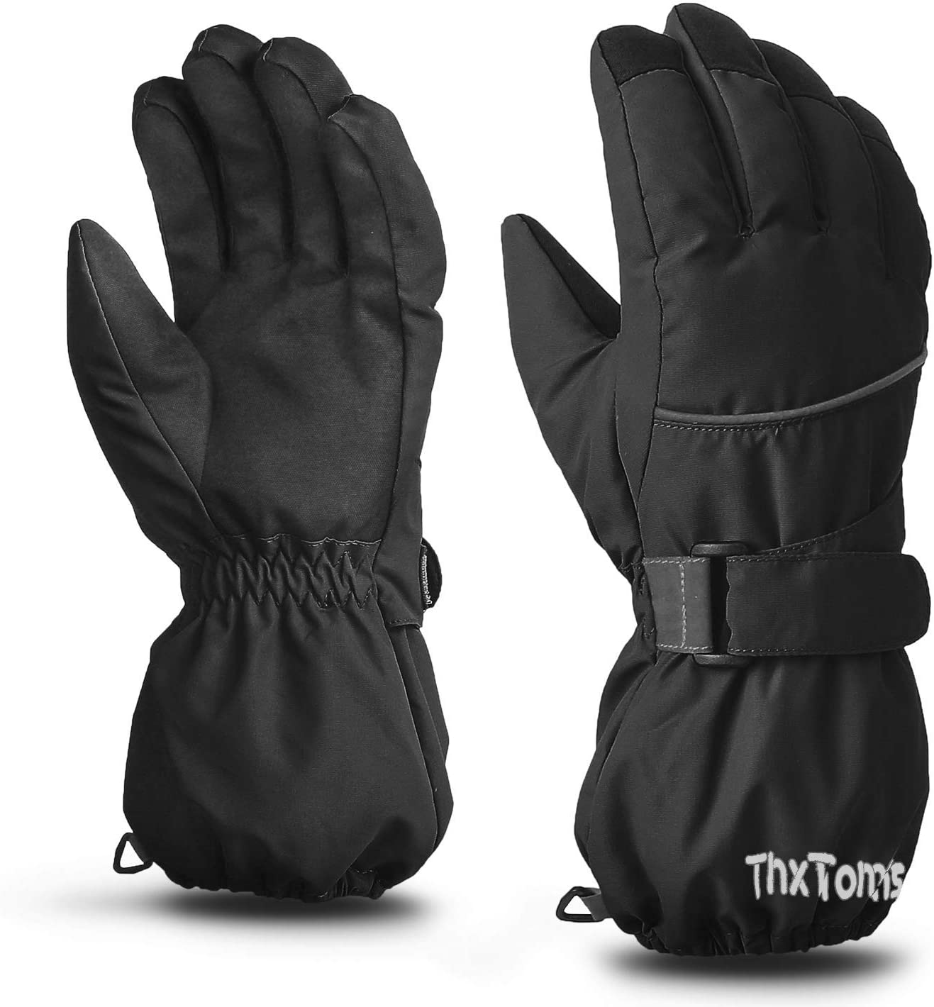 ThxToms Kids Mittens Winter Waterproof Warm Gloves with Long Cuff for Cold Snow Weather Outdoor Activities