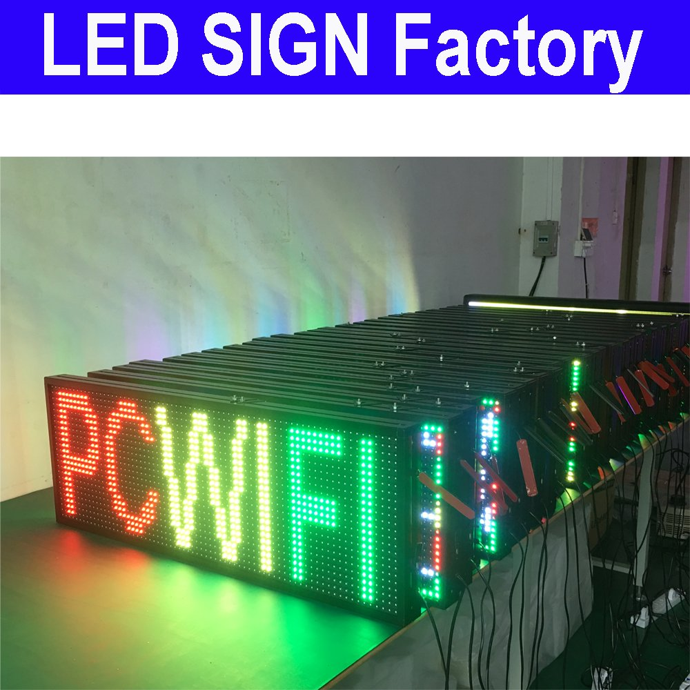 Scrolling LED Sign size 39'' x 14'' RGB 7 COLOR Programmable led advertising board with for indoor and Outdoor use led display by szyishang (Image #7)
