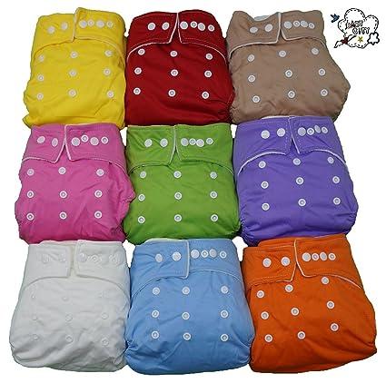 Set de 10 bebé ciudad + inserciones de 20 Pañales pañales bolsillo – lavable – Mamma