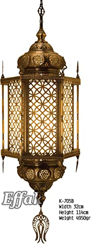 Brass Pendant Chandelier 45 , Pendant Lamp, Ceiling Pendant Fixtures, Turkish Lamp, Interior Design, Dining Room Lighting, Decorative Lights, Moroccan Lantern, Arabic Furniture, Geometrical Patterns