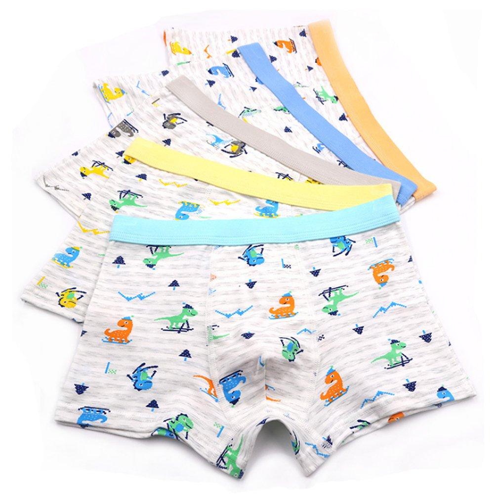 5pc Size 5 4-6 years Comfort Cotton Boys Boxer Briefs Leopard Kids Underwear