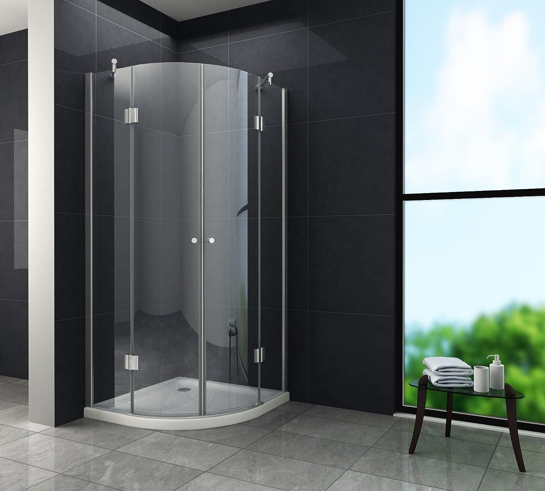 Mampara de 80 x 185 cm ANGOLO (cuadrante) incluye de ducha: Amazon ...